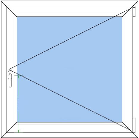 Houten kozijnen draai-raam